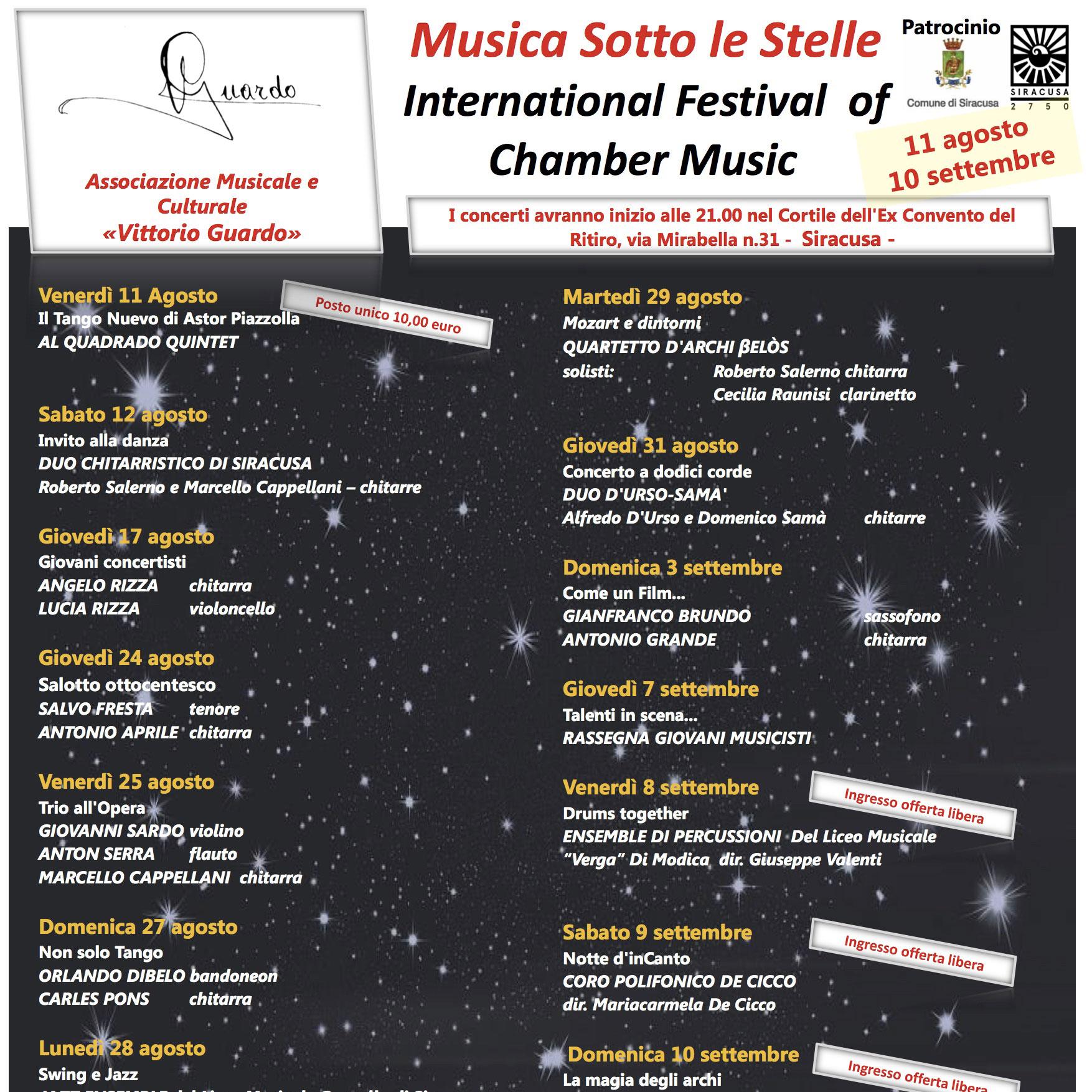 MUSICA SOTTO LE STELLE 2017