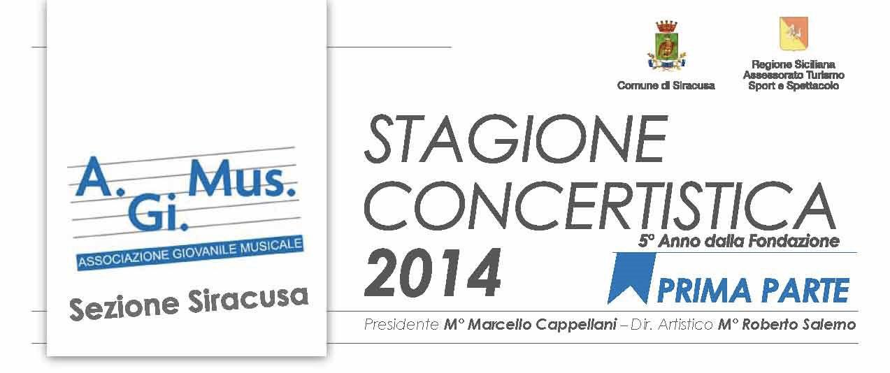 STAGIONE CONCERTISTICA 2014